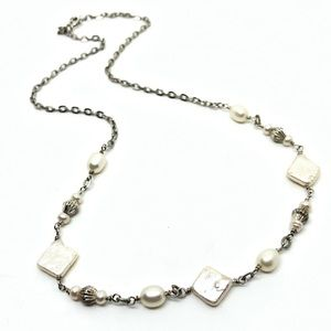 🆕Vintage Silver & Freshwater Pearl Necklace